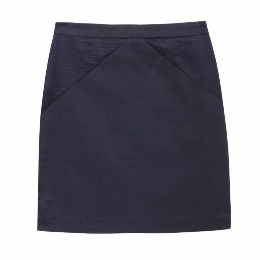 Jupe Coton Bleu Marine SOLENE MARTIN