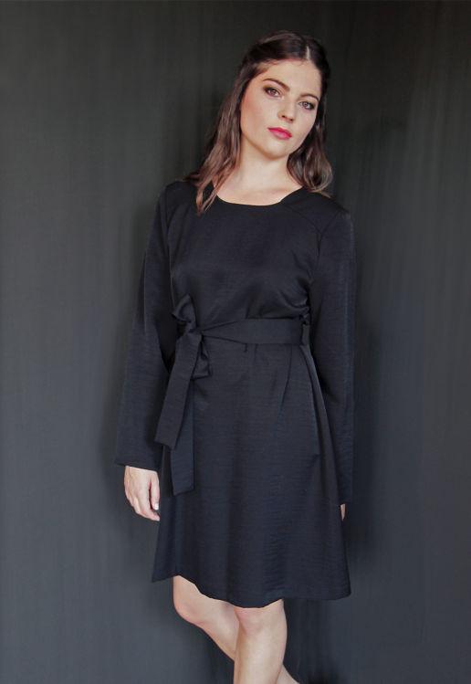 Robe Noire Chic Cocktail Soirée Mariage Créateur SOLENE MARTIN