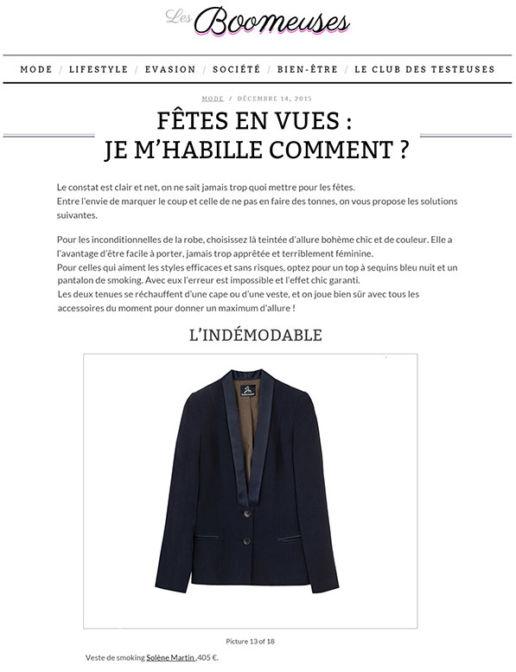 BOOMEUSES Createur Paris SOLENE MARTIN