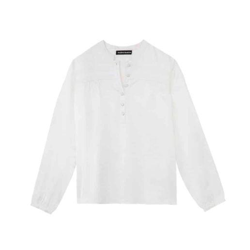 Chemise Femme coton blanche Chic Bureau Diner Cérémonie Créateur SOLENE MARTIN