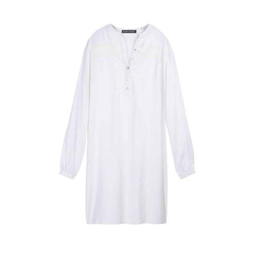 Robe coton blanche Plage Vacance chic Quotidien Créateur SOLENE MARTIN