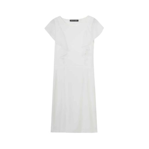 Robe soie blanche Chic Cocktail Soirée Mariage Créateur SOLENE MARTIN