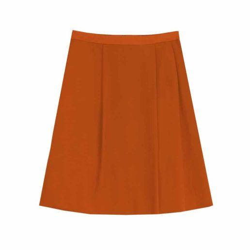 Jupe orange Chic SOLENE MARTIN