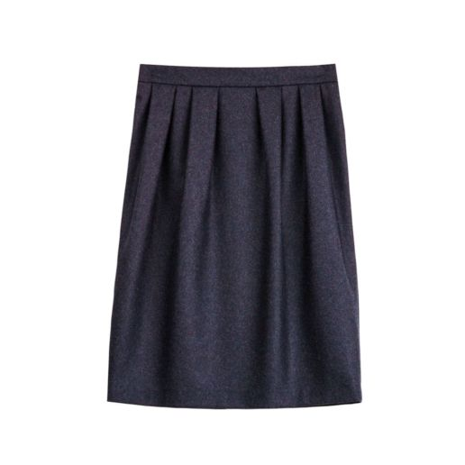 Jupe laine bleu Chic Bureau Diner Cérémonie Créateur SOLENE MARTIN
