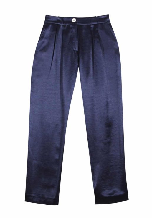 pantalon bleu marine SOLENE MARTIN
