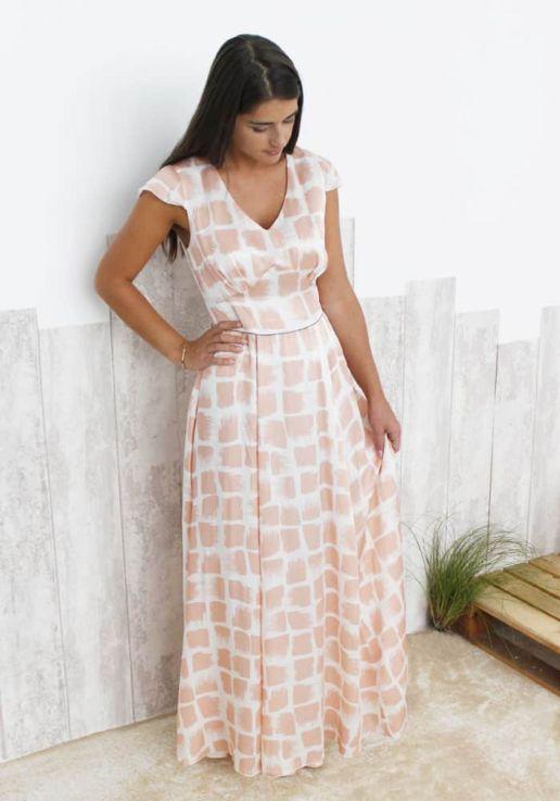 robe-longue-soie-Rose-SOLENE-MARTIN