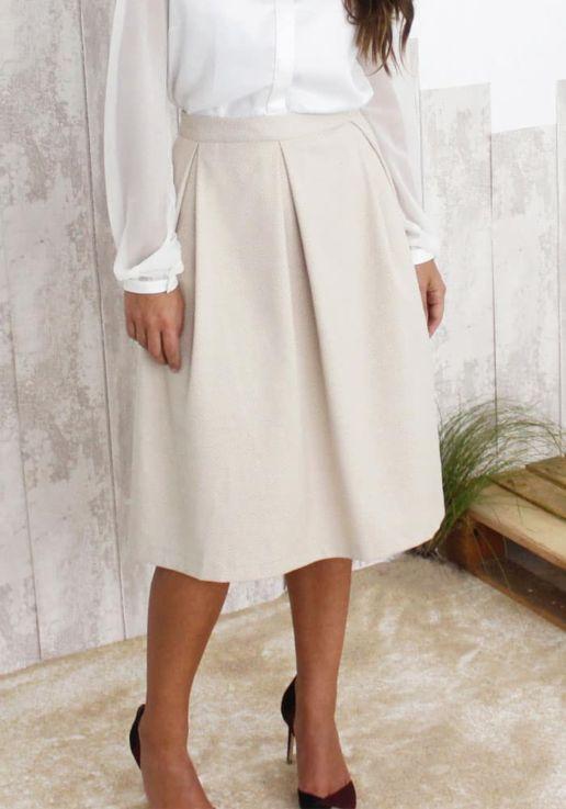 jupe-plissée-Orge-SOLENE-MARTIN