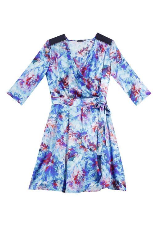 e3fa5031d3c Robe portefeuille soie imprimée fleurs – FREDERIQUE