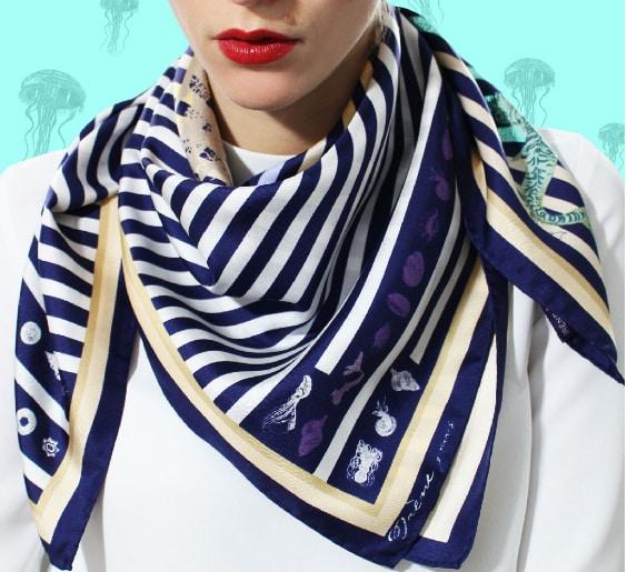 IRENE PARIS foulard soie