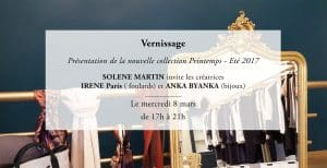 Invitation Vente de créateur SOLENE MARTIN
