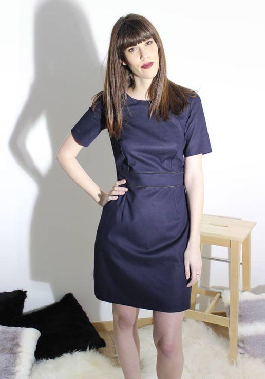 Robe bleu marine coton femme SOLENE MARTIN