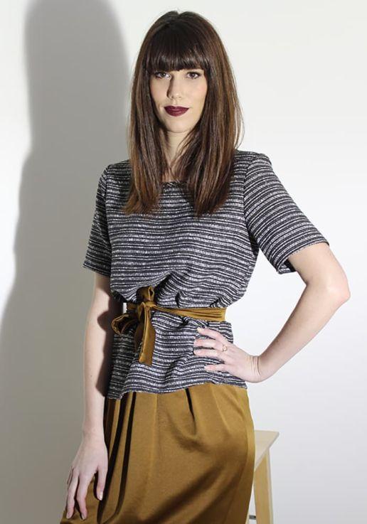 SOLENE MARTIN mode femme top noir et blanc