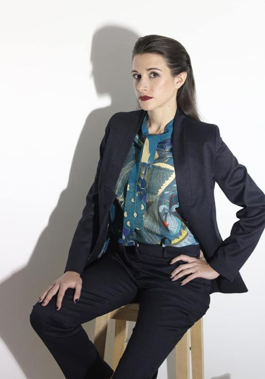 SOLENE MARTIN mode femme veste noire blouse coton