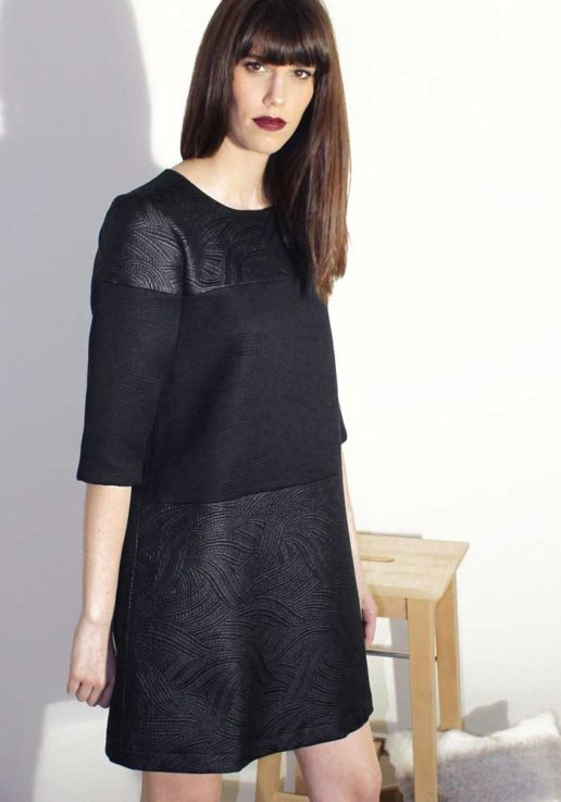 Robe noire créateur Paris mode femme SOLENE MARTIN