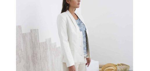 veste tailleur blanche SOLENE MARTIN