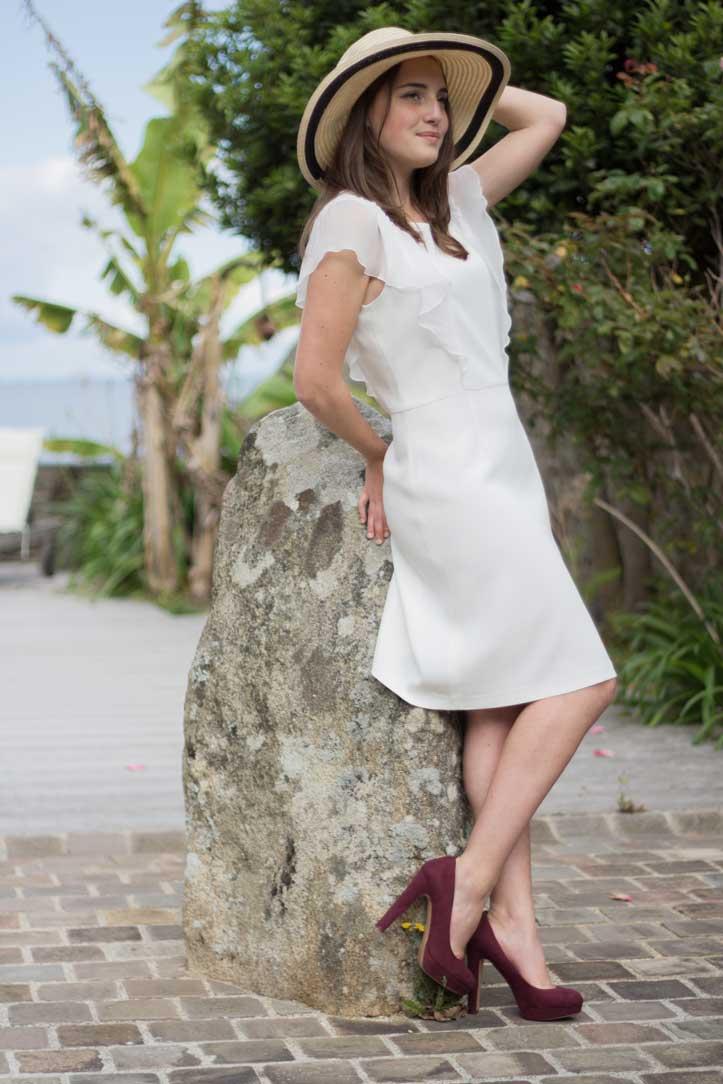 SOLENE MARTIN robe blanche createur