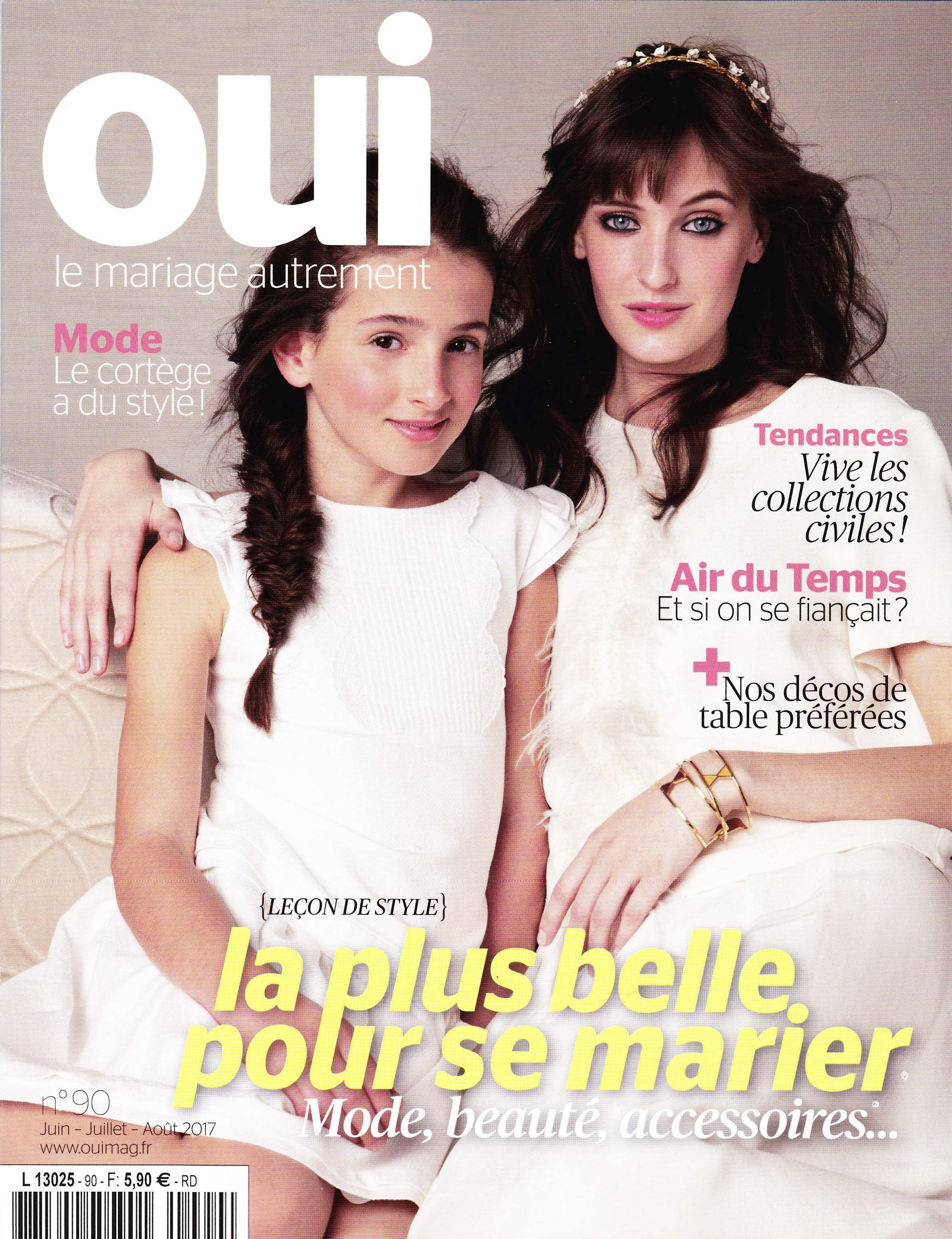 Oui magazine robe mariage SOLENE MARTIN