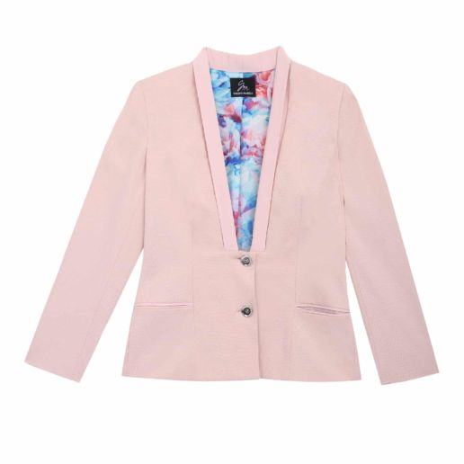 SOLENE MARTIN mode femme veste tailleur rose