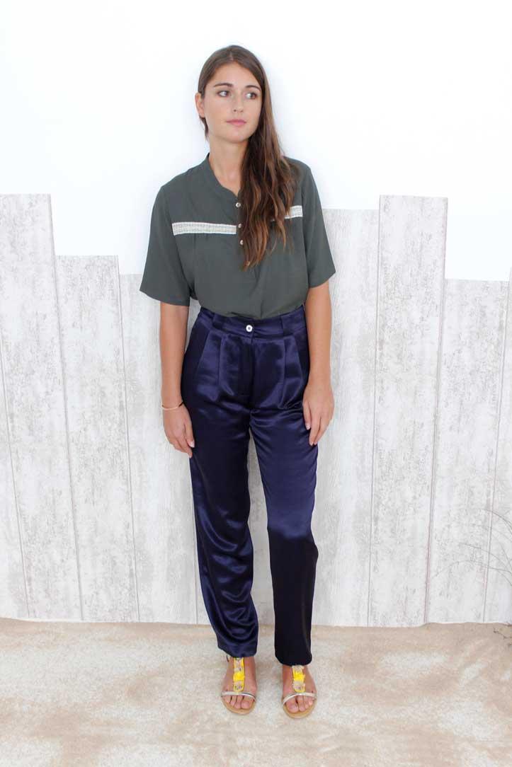 SOLENE MARTIN Pantalon taille haute