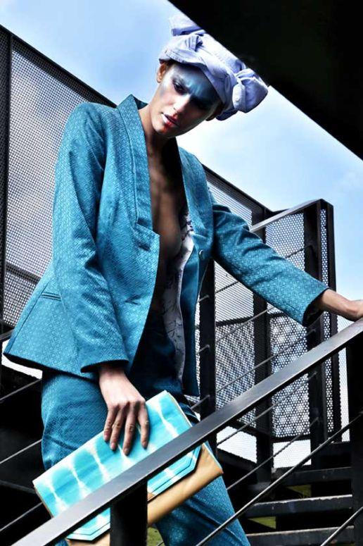Photo : Sarah-Mei Chan Stylisme : Guillaume Occhioni MUA : Anna Annoushka Mannequin : Alisar Vêtement femme créateur SOLENE MARTIN