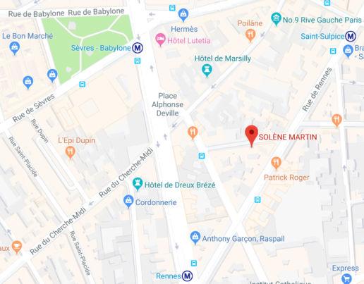 Plan-de-la-boutique SOLENE MARTIN 3 rue coetlogon 75006 PARIS